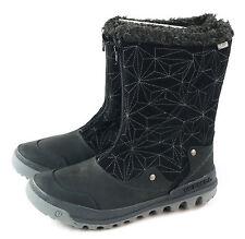 Merrell Women's Silversun Zip Waterproof Snow Winter Boot Black Size 7 M US