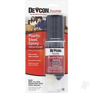 Devcon Plastic Steel Epoxy. 25ml Syringe. Fast Curing, High Strength.