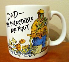 """Vtg Father's Day Mug - """" Dad The Incredible Mr. FiXiT """" - Father'S Day Gift"""