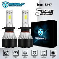 2 x H7 LED Headlight Conversion Kit Bulb 1800W 270000LM White High Power 6000K