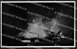 1946 Malta - Hal -Far - burning Aircraft on Bonfire Night  #2 photo 13 by 8cm