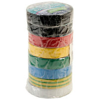 Ultratape Assorted PVC Insulating Tapes 19mm x 33m Pack of 8