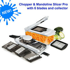 Food Chopper & Mandoline Slicer Pro, Cutter, Julienne, Grate with food collector