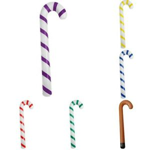 Plastic Giant Inflatable Candy Cane Stick for Home Xmas Tree Home Outdoor Decor