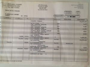 Authentic Original Bernard Madoff Investment Securities Entire Monthly Statement