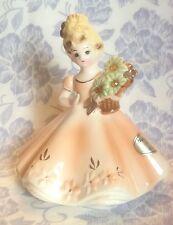 Vintage Josef Originals November Birthday Girl Figurine With Sticker