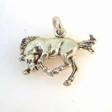 .925 Sterling Silver 3-D BUCKING BRONCO CHARM NEW Horse Pendant 925 HS12