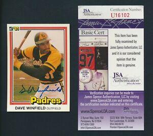 1981 Donruss #364 Dave Winfield JSA Autograph Signed Padres HOF ~ SET BREAK