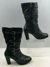 Ladies Harley Davidson Black Leather Biker Boots Size : 6