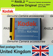 Genuine Original Kodak Klic-7003 Battery M380 M420 V1003 V803 M381 Z950 ,GE GB40