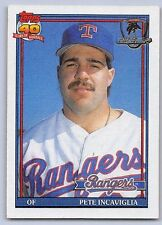 "1991  PETE INCAVIGLIA - Topps ""DESERT SHIELD"" Baseball Card -#172 -TEXAS RANGERS"