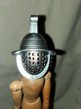 "Accessories for 12"" Action Figure 1:6 scale Metal Gladiator Helmet w Face Shield"