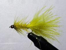3 x Eggstasy Blob Fly Chartreuse 3.2mm Bead Head Size 10 Barbless Blob Flies.