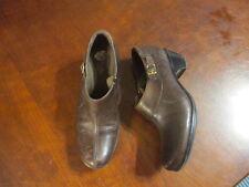 Clark Brown Leather Zip Up Shoes Women 7 m 36727