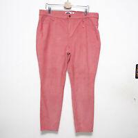 Old Navy Coral Pink Rockstar Super Skinny Corduroy Pants Womens Size 18