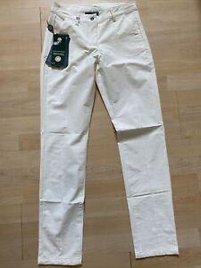 NWT Chervo Ladies Sciame Golf Pants 63286 130 Ivory Sz US 6 ITA 42 NEW