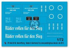 Peddinghaus 1/72 Deutsche Reichsbahn BR 86 Steam Locomotive Markings WWII 2666