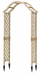 Selections Wooden Garden Arch (Tan) with Ground Spikes