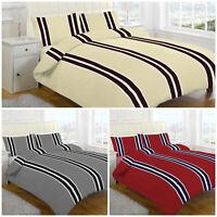 100% Cotton Flannelette Printed Reversible Duvet Quilt Cover Bedding Set
