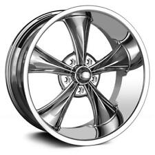22 inch Staggered 22x9 + 22x10.5 Ridler 695 CHROME wheel rim 5x4.75 5x120.65 +0