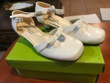 BLOSSOM COLLECTION  STYLE RIBBON II-2 WHITE SIZE 12 YOUTH LITTLE GIRLS SHOES