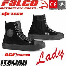 FALCO Damen Schuhe LENNOX LADY kurze Motorrad CE Lederstiefel mit Protektoren