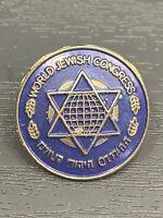World Jewish Congress Lapel Pin - Vintage Organization Star Of David Member Pin