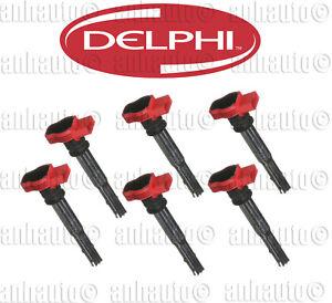 Set of 6 DELPHI Ignition Coils for Audi+Volkswagen 06E905115E
