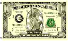 """MILLION DOLLARS"" flag 3x5 ft $1,000,000 bill dinero cash"