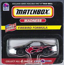 Matchbox Madness Taco Bell Firebird Formula Black 1998 Mint On Card