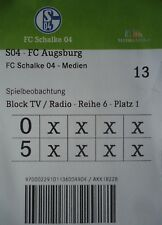 TICKET Medien BL 2016/17 FC Schalke 04 - FC Augsburg