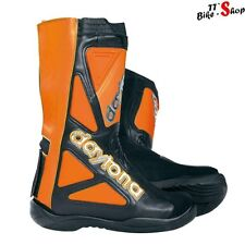 "Daytona ""Evo Supermoto"" SuMo-Stiefel in Orange, Größe 40 41 42 43 44 45 46 47"