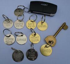 Engraved Suitcase Tags Key ID Hotel Keyring Door Sets Car Name Pet Brass Steel