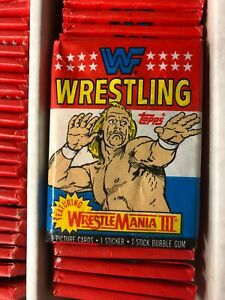 1987 Topps WWF World Wrestling Federation 9 Cards/1 Sticker Wax Pack HULK HOGAN
