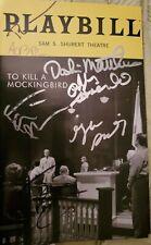 To kill a mockingbird Signed Broadway Playbill Jeff Daniels Celia Keenan-Bolger
