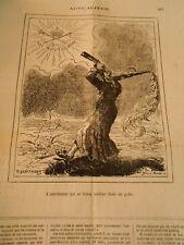 Caricature 1873 - L'Astronome qui se laisse tomber dans un puits