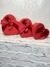 Small Heart Shape Red Florist Gift Boxes Flowers Sweets Gifts