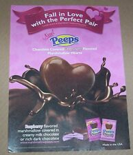 2011 ad page - Peeps marshmallow Valentine Hearts Just Born PRINT Advertising