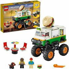LEGO 31104 Creator 3-in-1 Monster Burger Truck Toy, Off Roader, Tractor Hauler