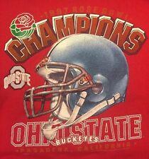 Lee Sport Ohio State Buckeyes 1997 Rose Bowl Champions Sweatshirt Red Men's XL