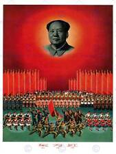 PROPAGANDA COMUNISMO CINA MAO EST RED FLAG grande poster art print bb2330a