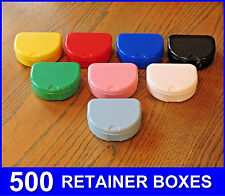 500 Mixed Color Denture Retainer Box Orthodontic Dental Case Mouth Ortho Brace !