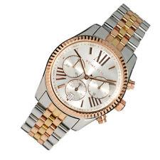 100% New Michael Kors Lexington Chronograph Stainless Steel Women Watch MK5735