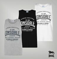 Mens Lonsdale Scooped Lightweight Soft Boxing Vest Top Sizes from S to 4XL
