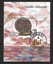 Animaux Coquillages et mollusques Madagascar (55) bloc oblitéré