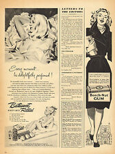 1946 vintage Ad BATHASWEET Beauty Bath Ritual Products ART Blonde in tub 051517