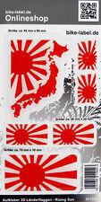 Aufkleber 3D Länder-Flaggen Rising Sun 6er Set mit 4 Formen - 301200
