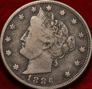 1886 Philadelphia Mint Liberty Nickel