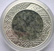 Latvia 2011-2012 Stone Granite Silver Bimetal Coin,Proof