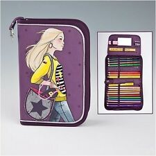 TOP Model Filled Pencil Case - Happy Star Beautiful Zipped Filled Pencil Case